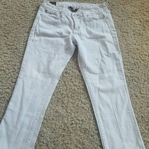 White Lucky Crop jeans